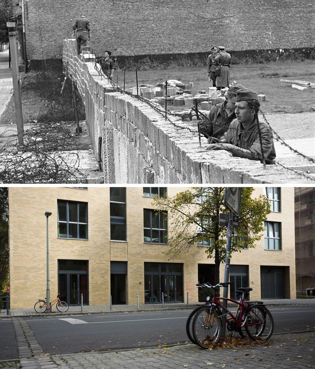 El antes y el después del muro