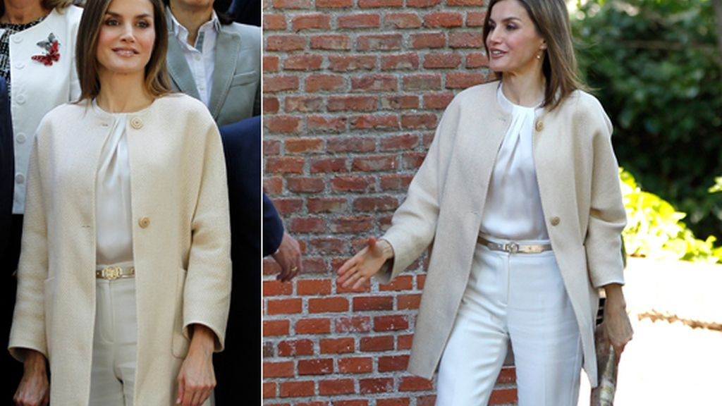 La reina Letizia luce estilo 'working girl'