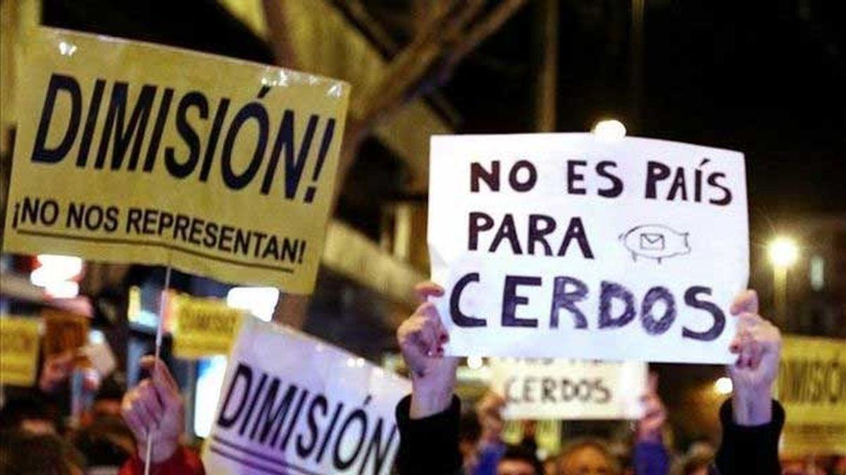 Manifestación contra la corrupción en Madrid
