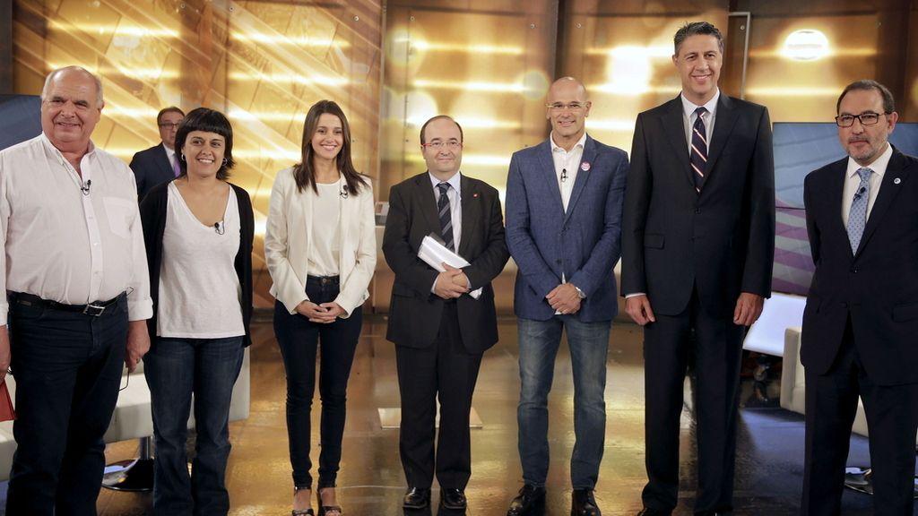 Debate de los candidatos a las elecciones del 27S en Cataluña