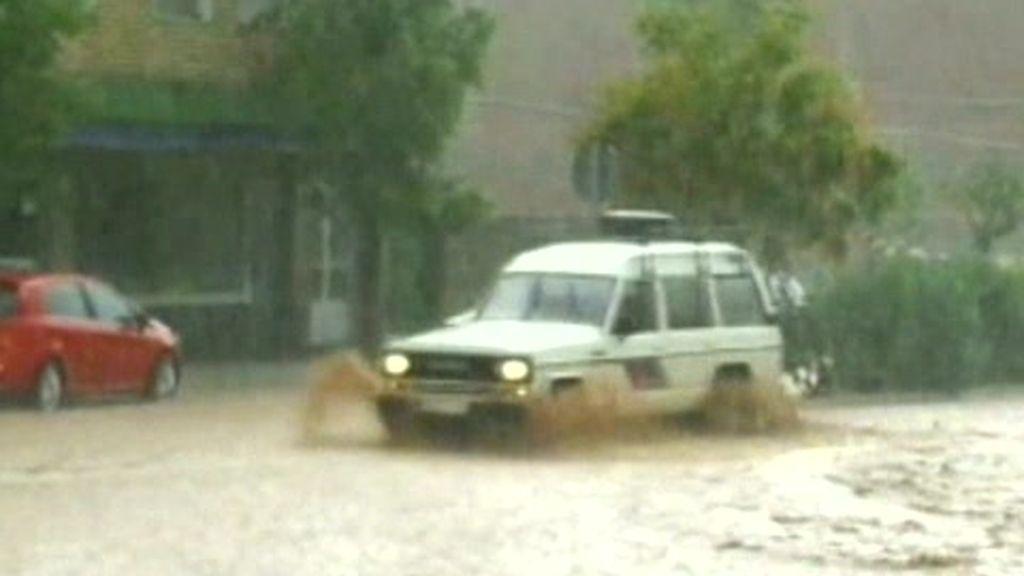 Las intensas lluvias en Jaén provocan grandes destrozos