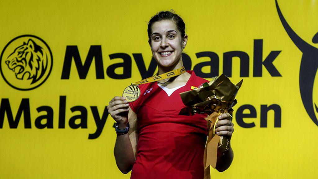 Carolina Marín consigue la medalla de oro en el Open de Malasia de badminton