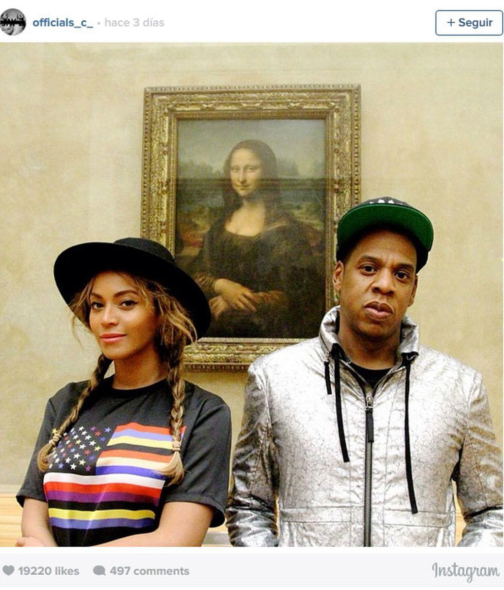 Beyoncé, Jay Z, selfie, La Gioconda, París
