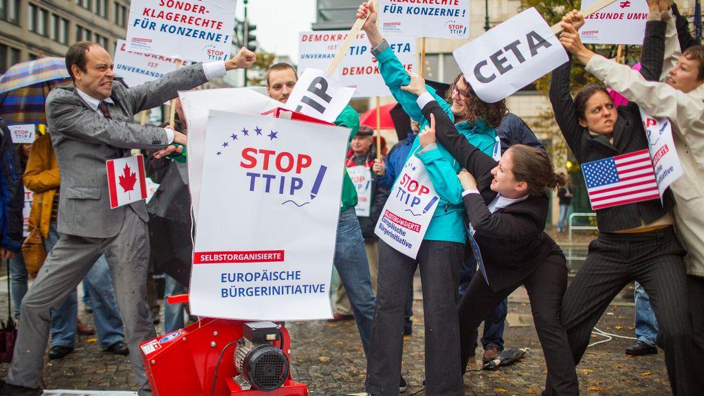 Protestas frente a pactos comerciales