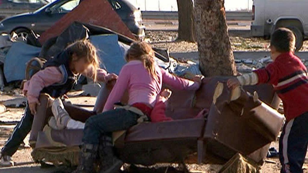 Niños en poblados