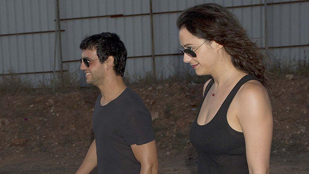 Fran Perea y su novia