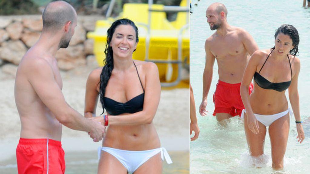 Gonzalo Miró y Ana Isabel Medinabeitia volvieron a la isla de vacaciones