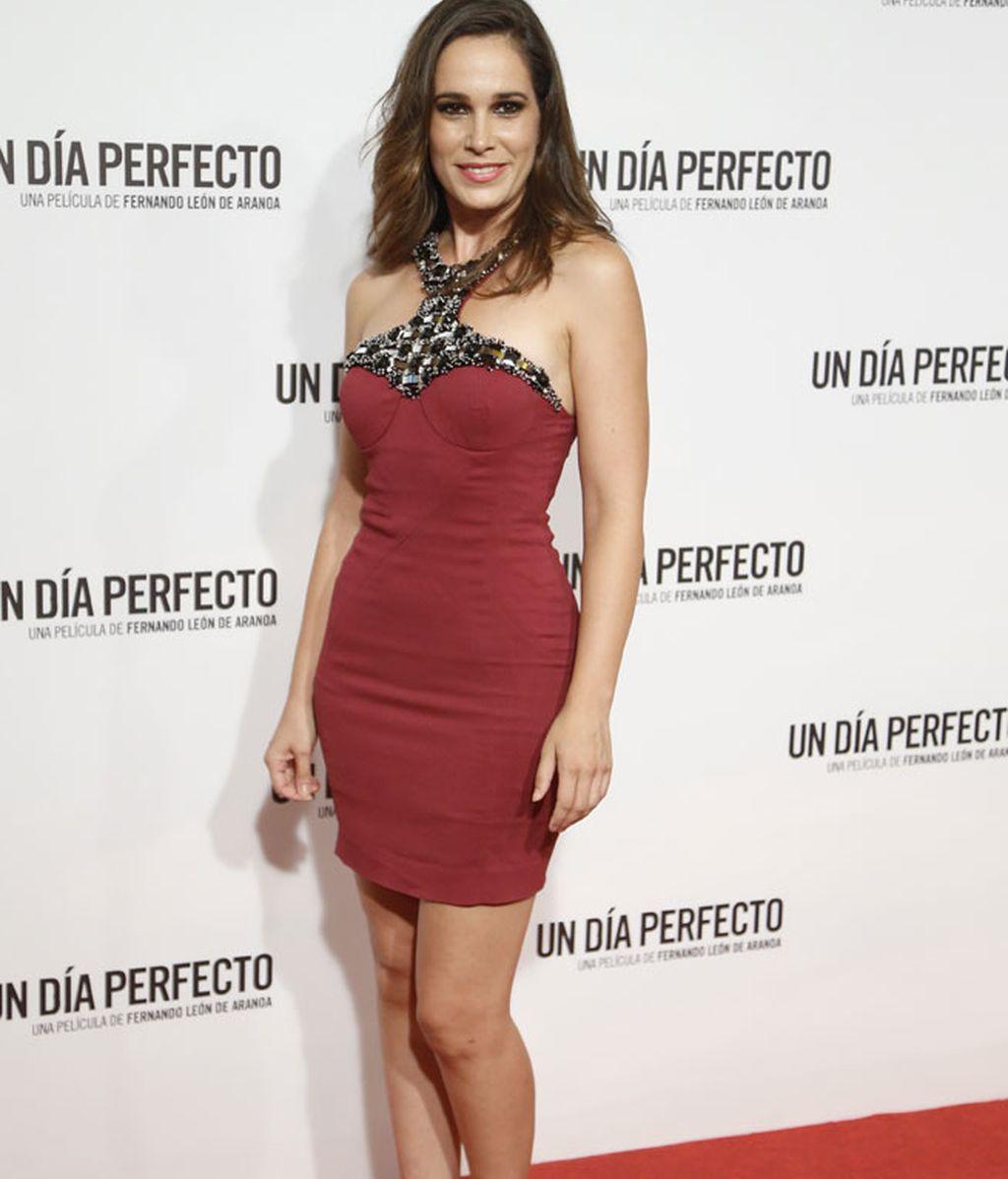 La actriz Ceila Freijero, con un modelo de 'Philipp Plein'