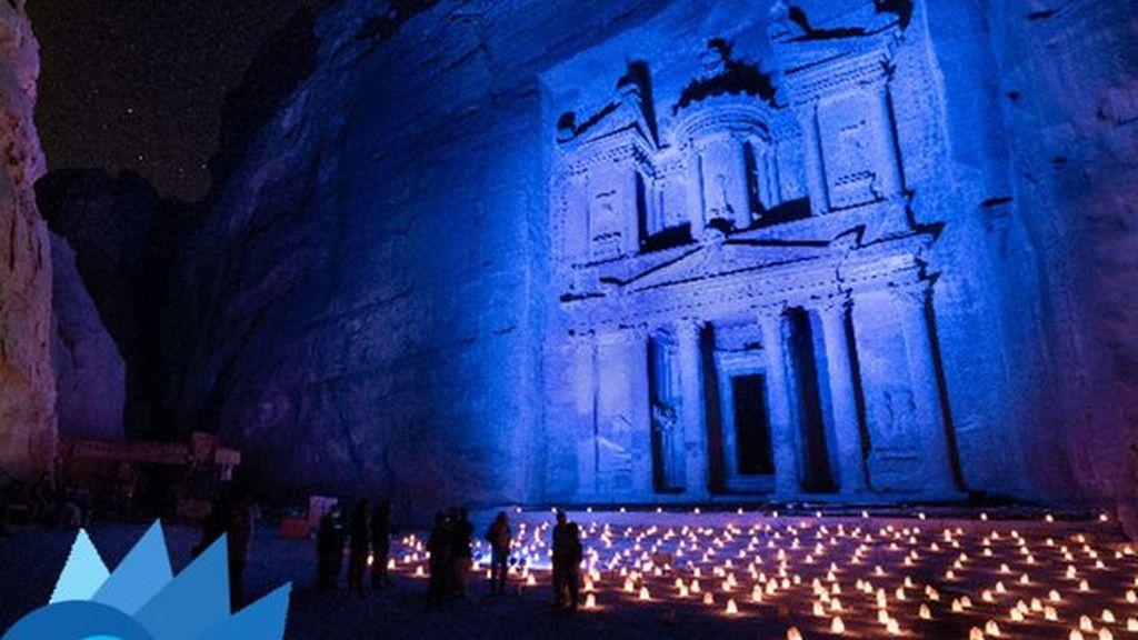 Petra se ilumina de azul (jordania)