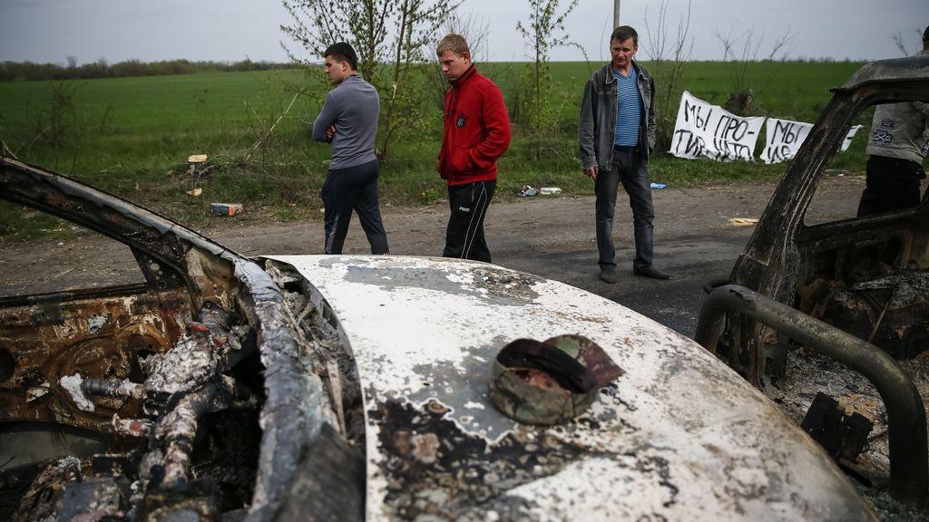 Nacionalistas ucranianos acusan a las fuerzas especiales rusas de provocar el tiroteo en Slaviansk