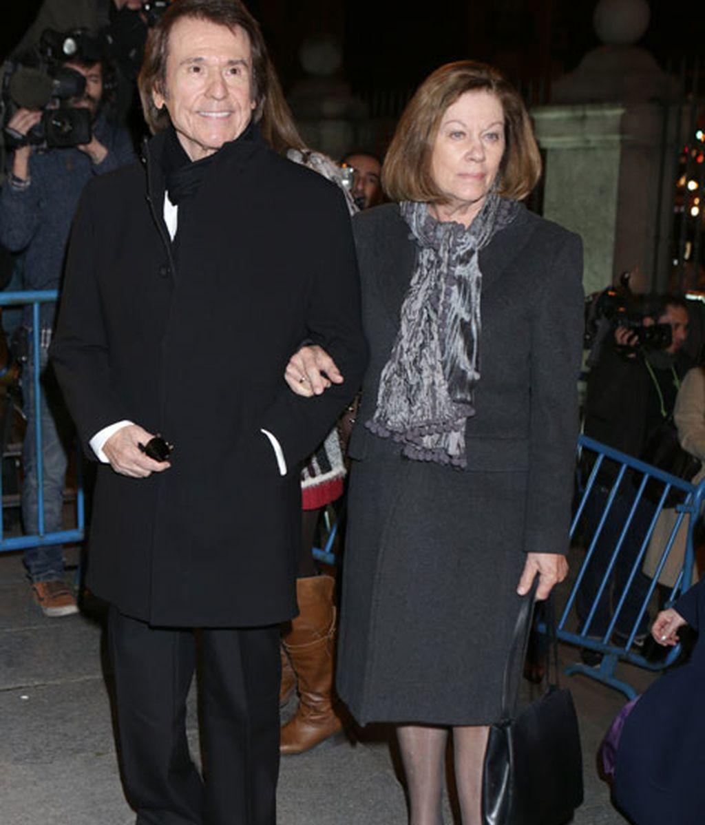 Raphael y su mujer, Natalia Figueroa