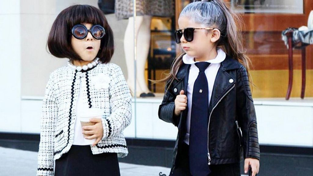 Disfrazadas de Karl Lagerfeld y Anna Wintour en Halloween