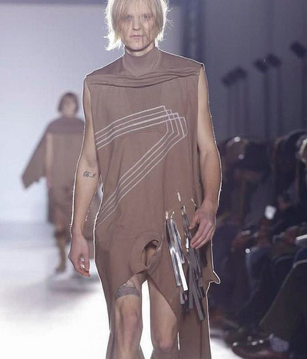 La propuesta masculina de Rick Owens en Paris Fashion Week