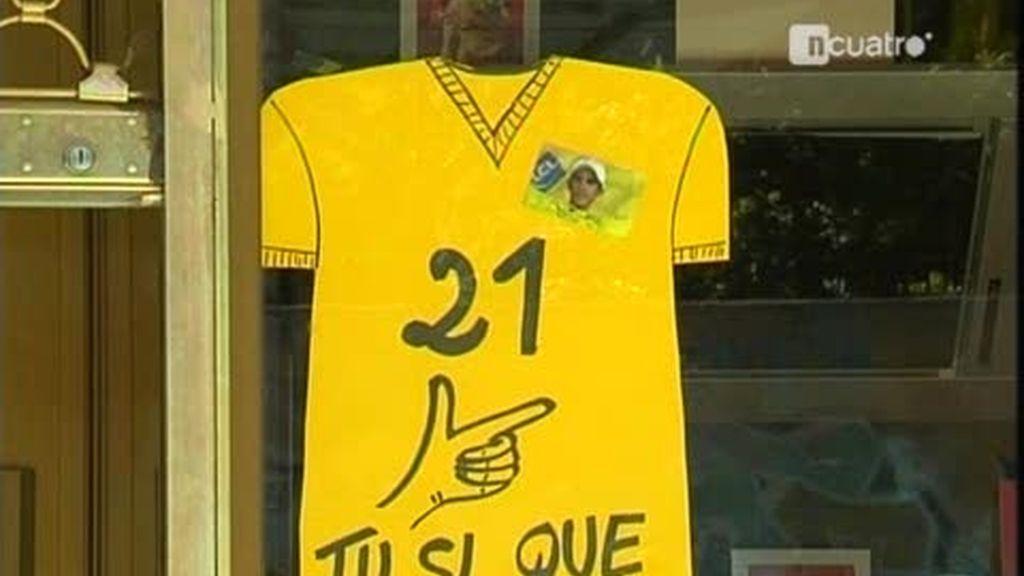 Los Campos Elíseos se visten de gala para recibir a Contador