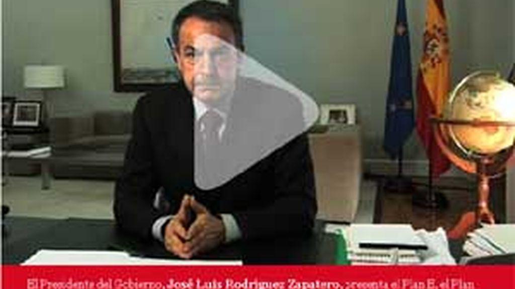 En un vídeo, Zapatero explica los ejes del Plan Español para el Estímulo de la Economía y el Empleo, llamado por el Gobierno 'Plan E'