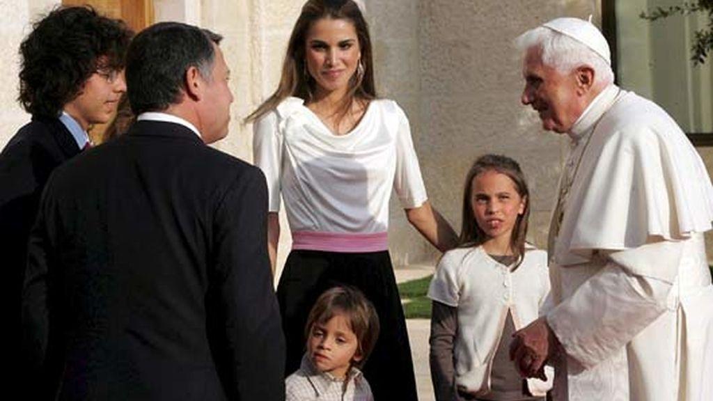 La Familia Real con el Papa