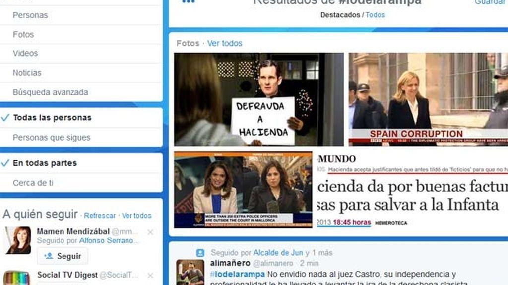 Palma y #lodelarampa se convierten en 'trending topic' por la declaración de la Infanta