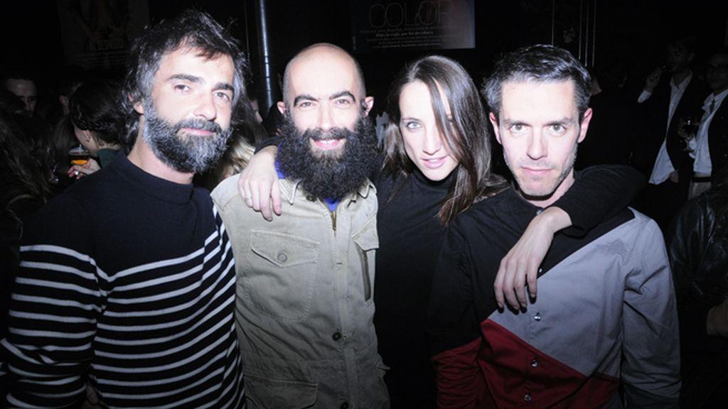 Javi Bernal, Carlos Díez, Raquel Sánchez y Juanma Cabezón