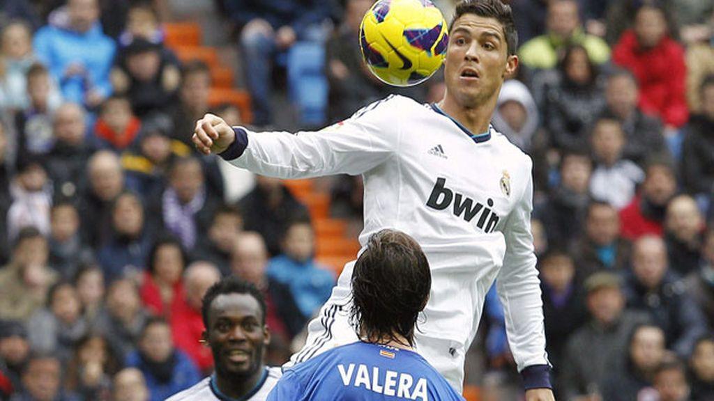 Cristiano Ronaldo jugando contra el Getafe