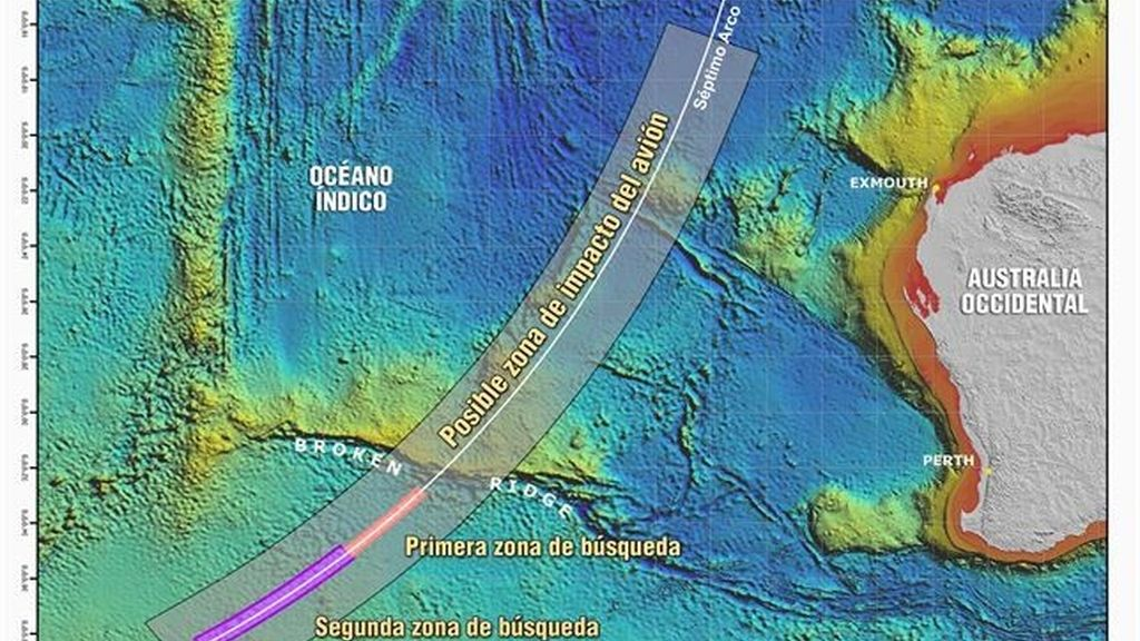 Mapa MH370