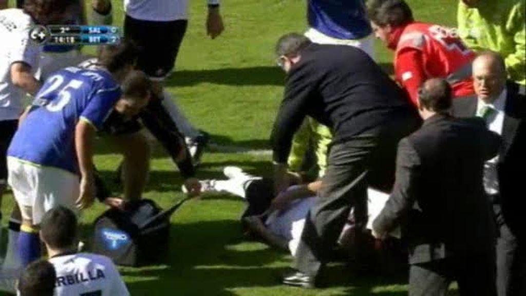 Miguel García estable tras perder el conocimientos en mitad de un partido