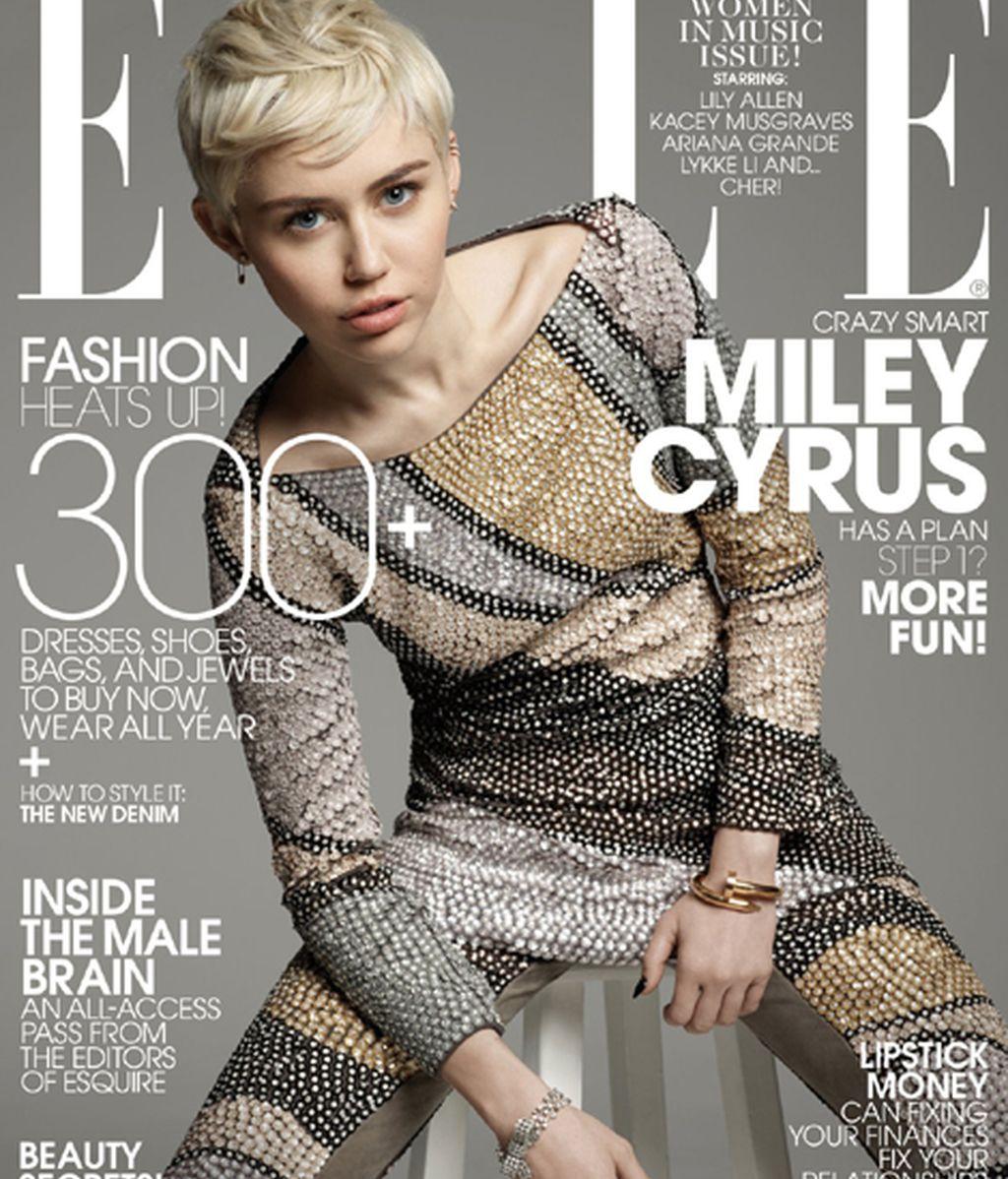 Miley Cyrus, la nueva portada de la revista 'Elle'