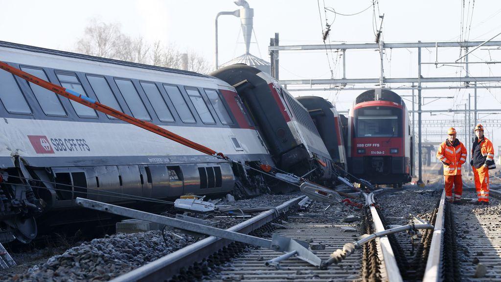 Choque de trenes en Suiza