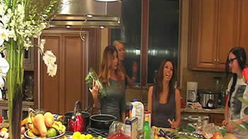 Cena con María Bravo y Eva Longoria