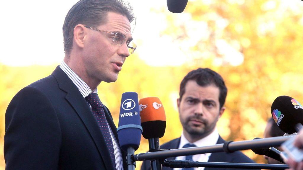 Jryki Katainen en el ECOFIN