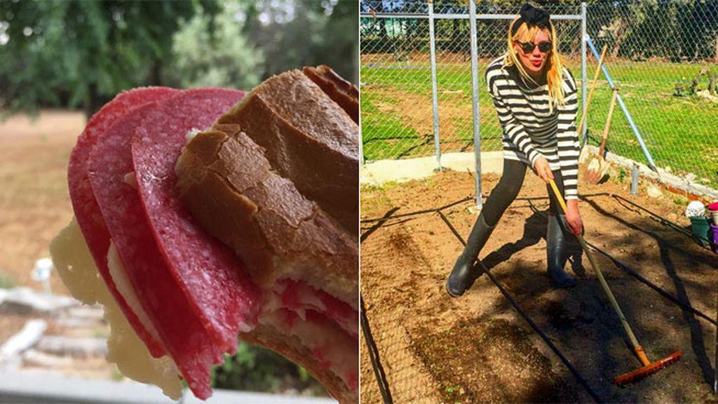 Bocata de salami y queso, así se lo monta Topacio Fresh en su finca 'Don Viejo'