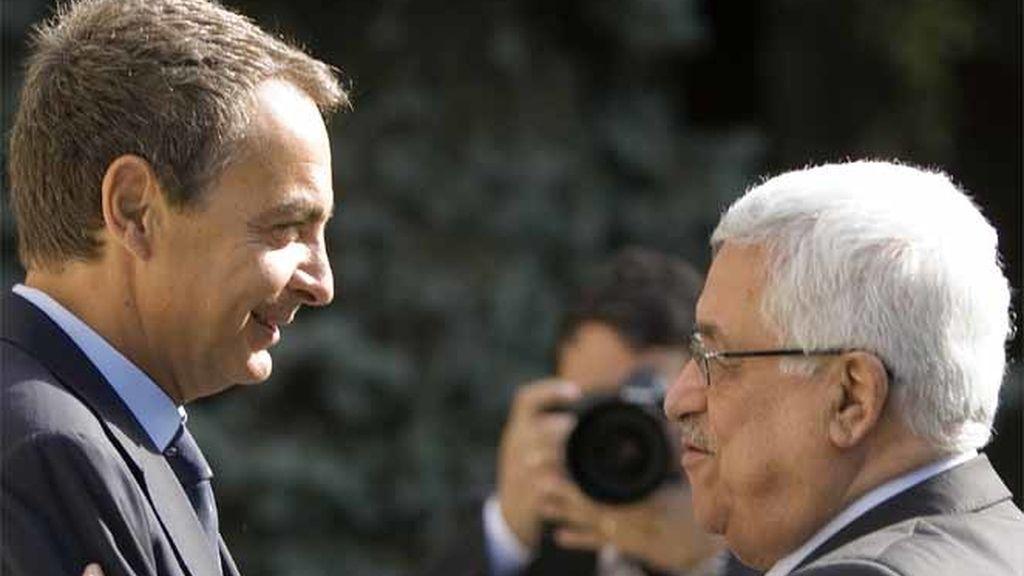 Abbas y Zapatero