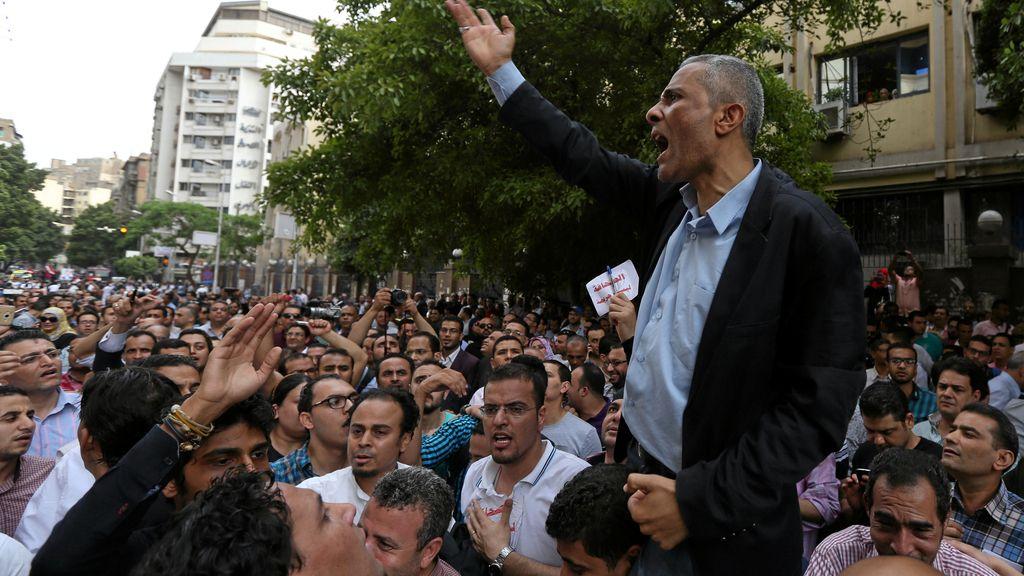 Protestas en Egipto por la libertad de prensa