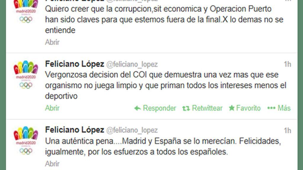 El tenista Feliciano López, muy enfadado con la decisión del COI