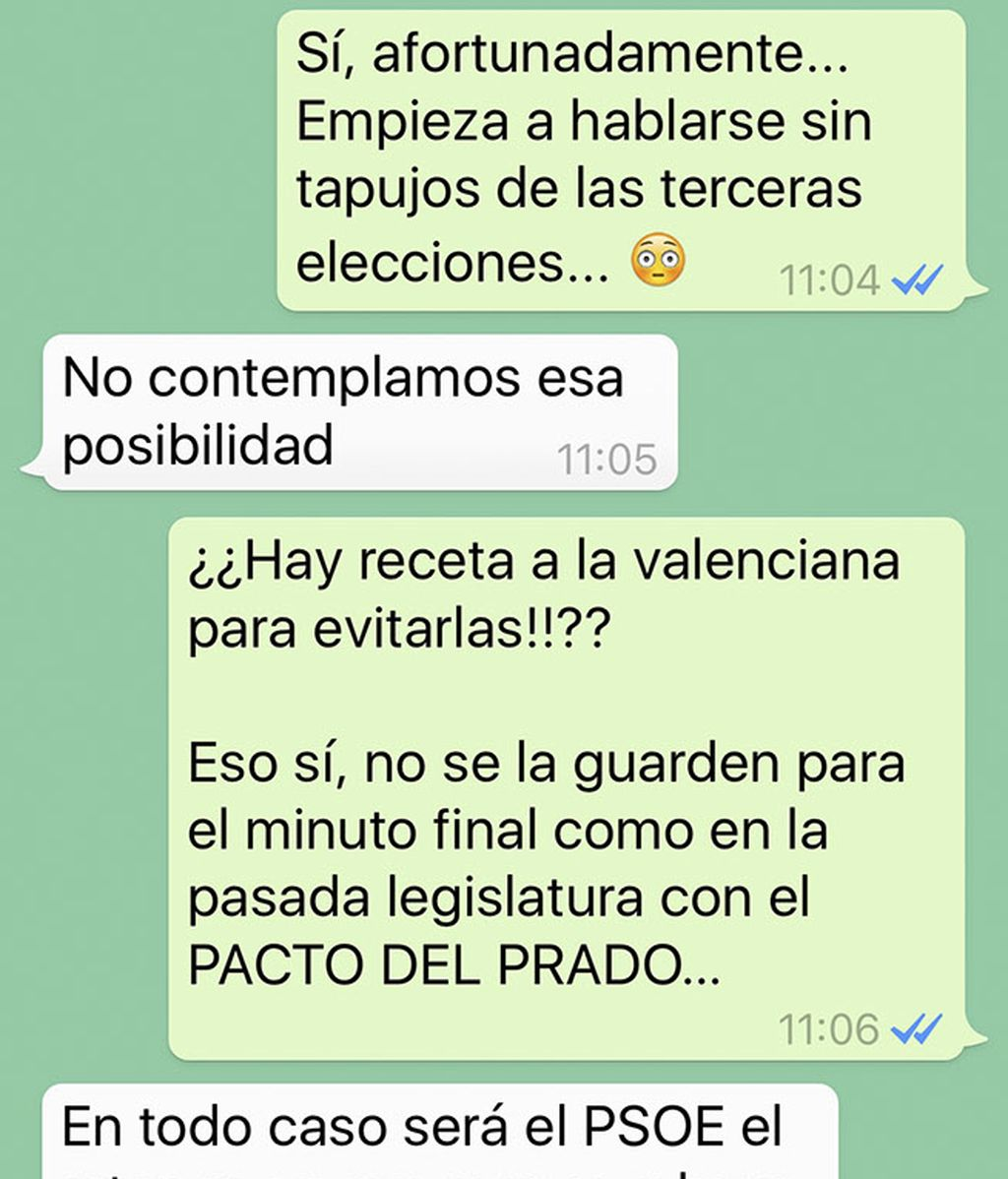 Joan Baldoví, a golpe de WhatsApp