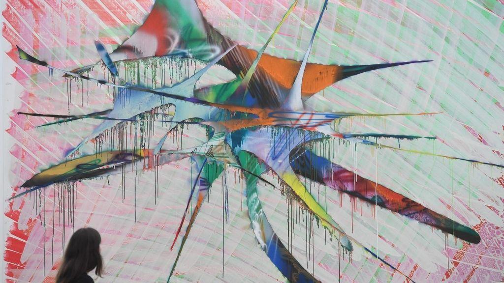 Inauguración de una exposición de 'Katharina Grosse' opens Baden-Baden