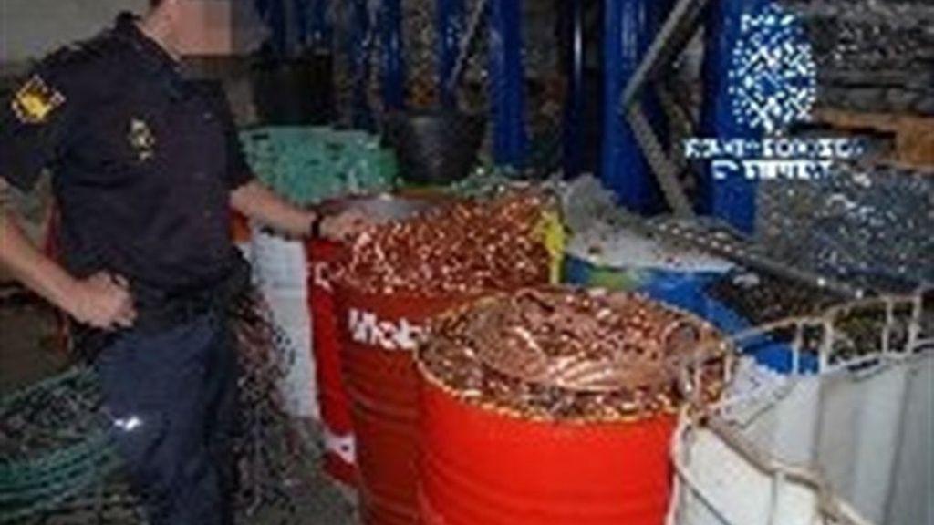 Incautadas 96 toneladas de metales robados en centros de residuos de toda España
