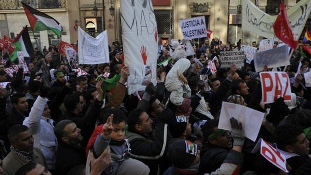 madrid pide paz para gaza