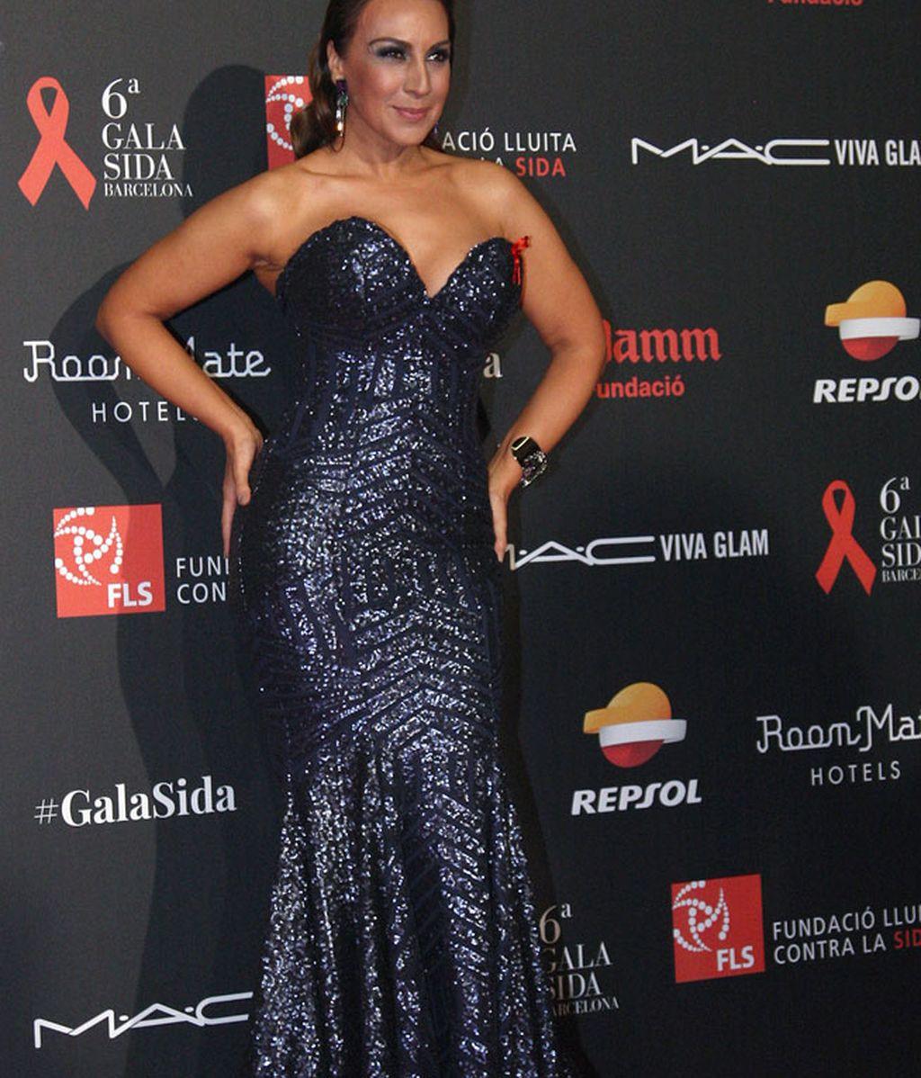 La jurado de 'Pequeños Gigantes' Mónica Naranjo posaba con ajustado vestido