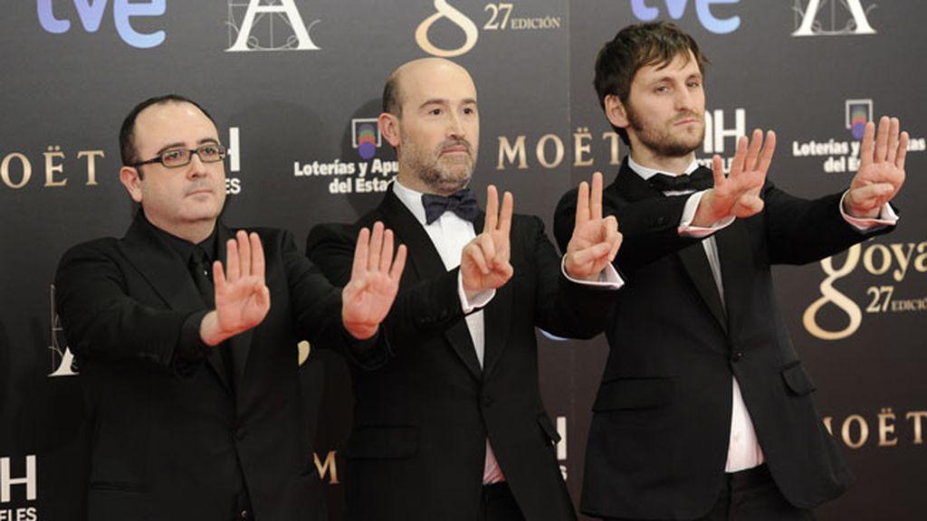 Carlos Areces, Javier Camara y Raúl Arevalo