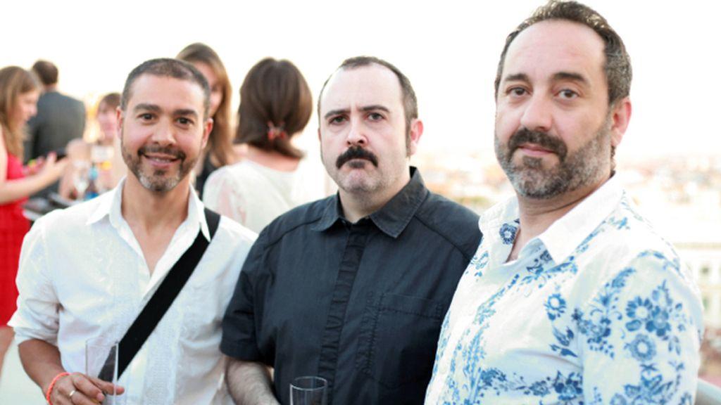 Luis Bustamante, Carlos Areces y Beni Alonso