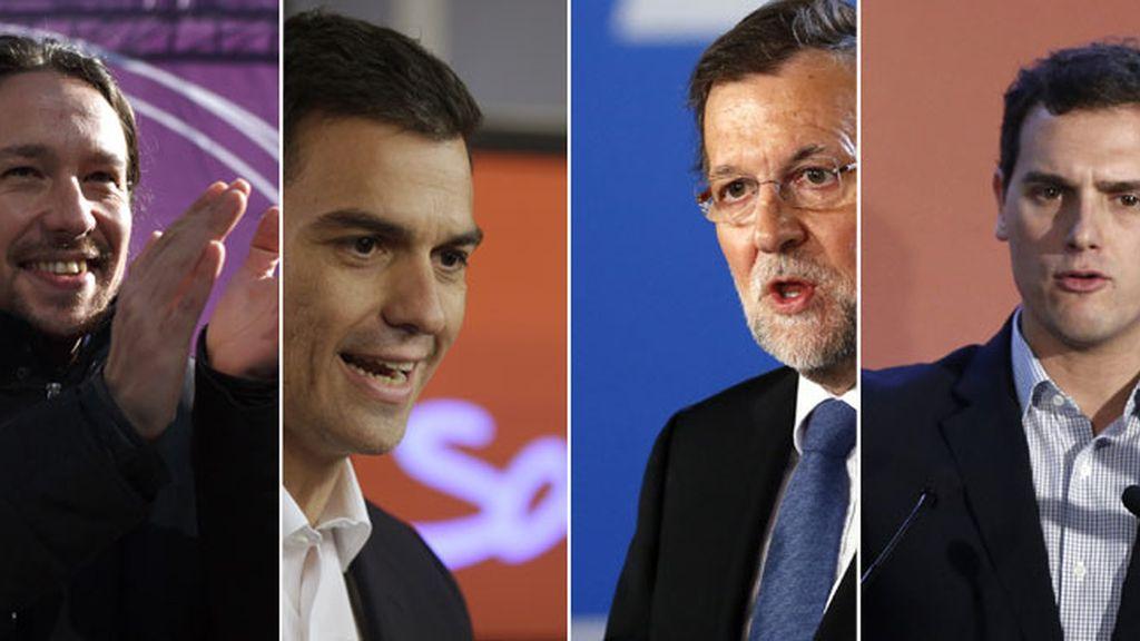 Empate técnico entre Podemos, PSOE, PP y Ciudadanos impide la mayoría