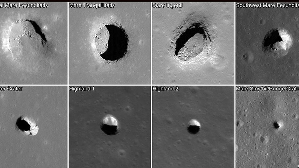 Descubren 200 'madrigueras' en la Luna