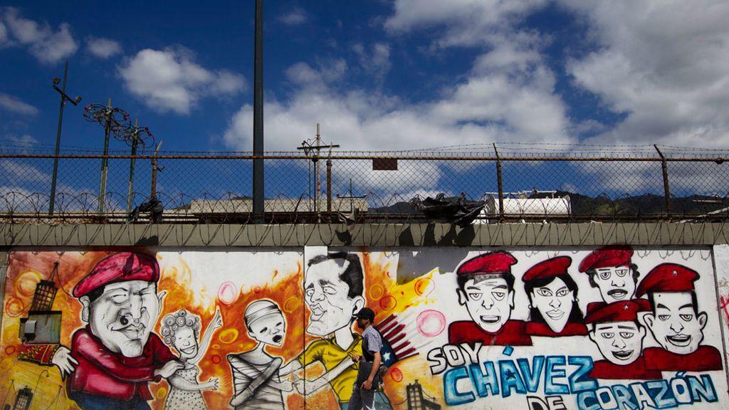 Pintadas de apoyo a Chávez
