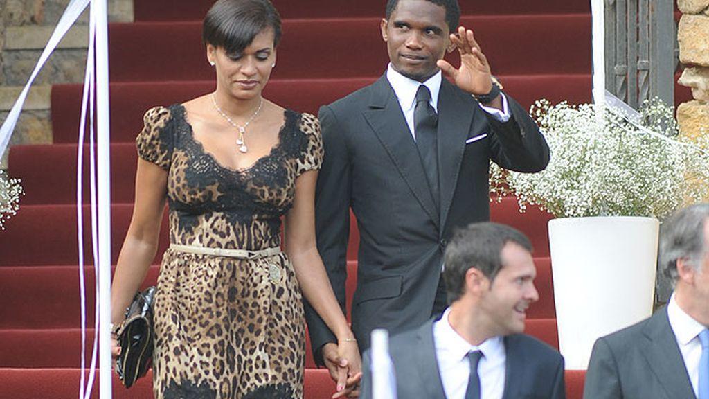 Samuel Eto'o y su esposa Georgette