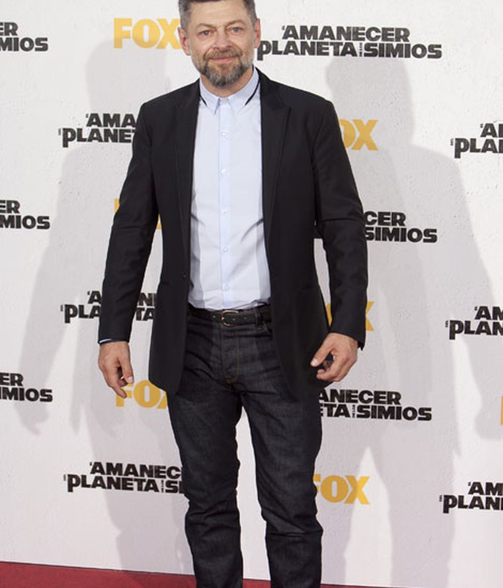 El actor Andy Serkis, conocido por su papel de Gollum
