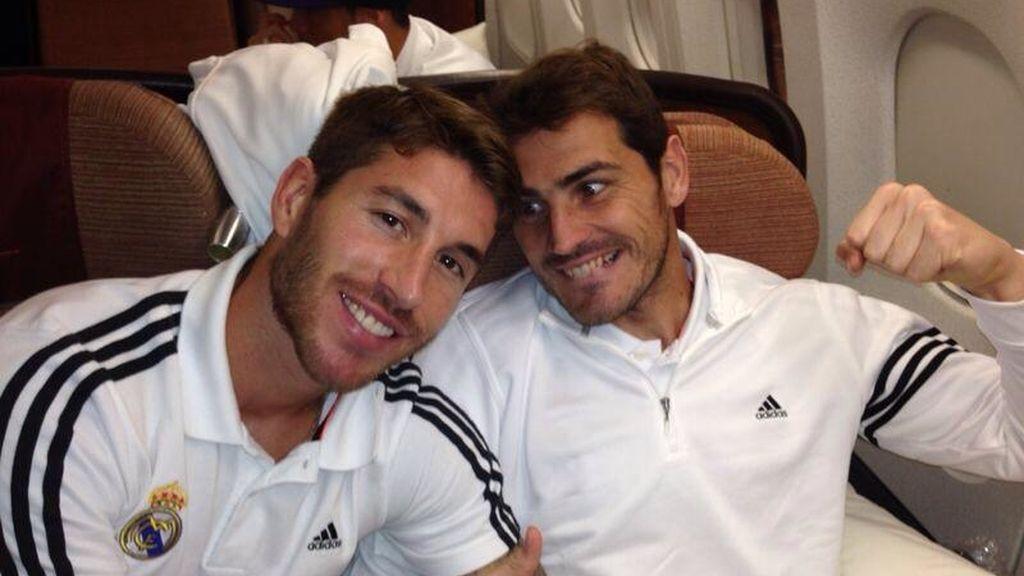 Iker y Sergio Ramos bromean