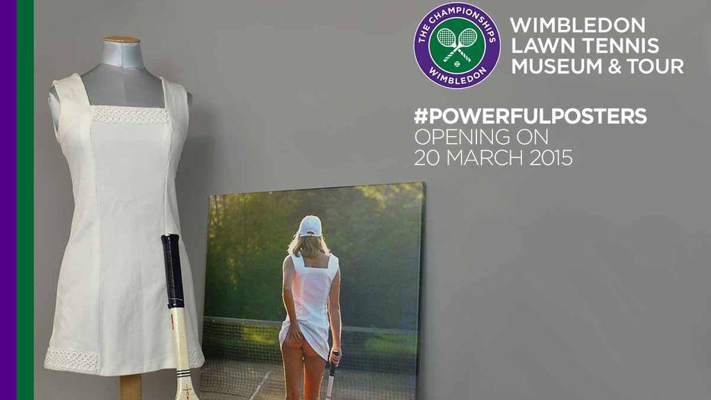 El polémico cartel utilizado para promocionar una exposición sobre Wimbledon