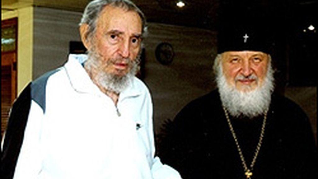 Fidel Castro y Kiril Gundajaev. FOTO: El Nuevo Herald.
