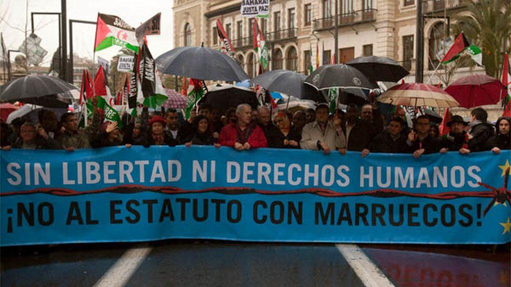Manifestación en Granada contra el Estatuto Avanzado de Marruecos