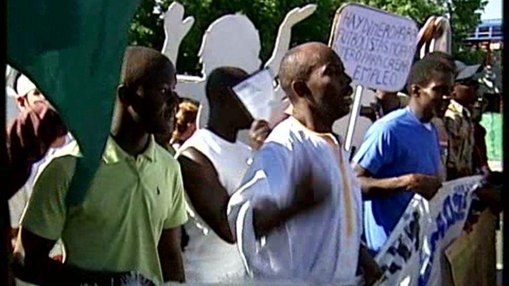 Manifestación contra la reforma de la Ley de Exranjería